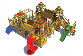 COLORED CASTLE MODEL