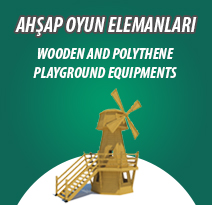 WOODEN AND POLYTHENE PLAYGROUND EQUIPMENTS