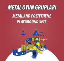 METAL AND POLYTHENE PLAYGROUND SETS